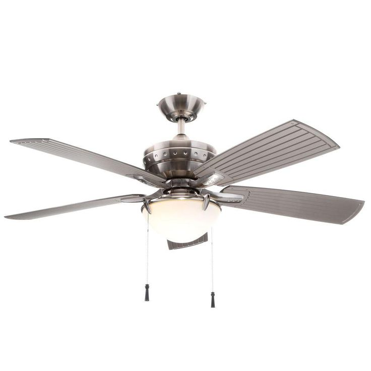 STELLA FOR YOUR SUNROOM and for your LIVING ROOM... ITS an INDOOR OUTDOOR FAN....Hampton Bay Four Winds 54 in. Indoor/Outdoor Brushed Nickel Ceiling Fan-AC457-BN - The Home Depot