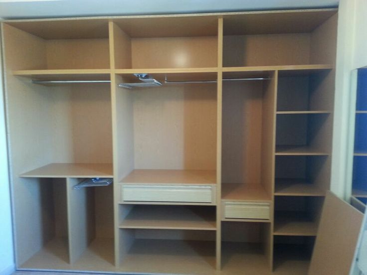 Instalando su armario interior roble espejo con barras - Cajoneras interior armario ...