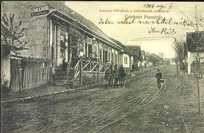 Pécel, Üdvözlet Pécelről. Szemere Pál utca a szöve... | Képcsarnok | Hungaricana