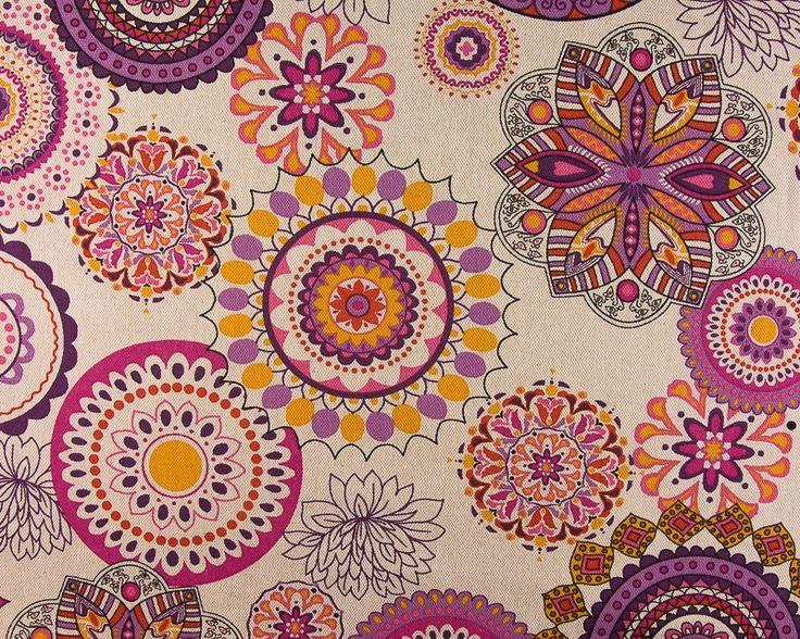 Panamá Floreado Étnico 1-Na nossa loja online pode comprar tecido de decoração…