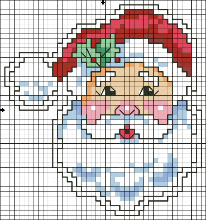 Santa Face. I'am gone make this for christmas in beads