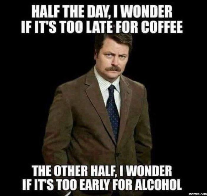 Coffee or Alcohol meme - http://jokideo.com/coffee-or-alcohol-meme/