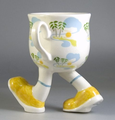 Carlton pottery Walking Ware.  Too cute!