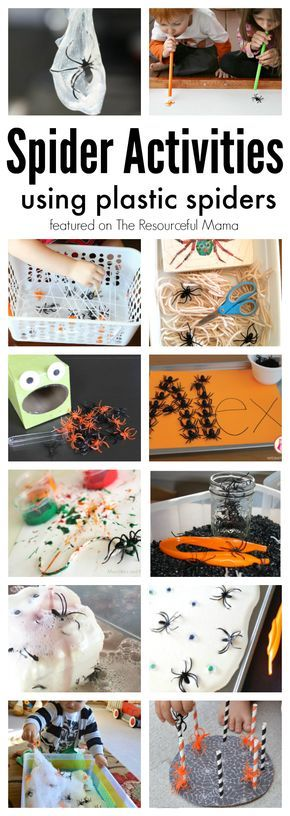 These spider activities are lots of fun while offering kids the opportunity to explore science and math, build motor skills, and more. Halloween   The Very Busy Spider   Spider themed