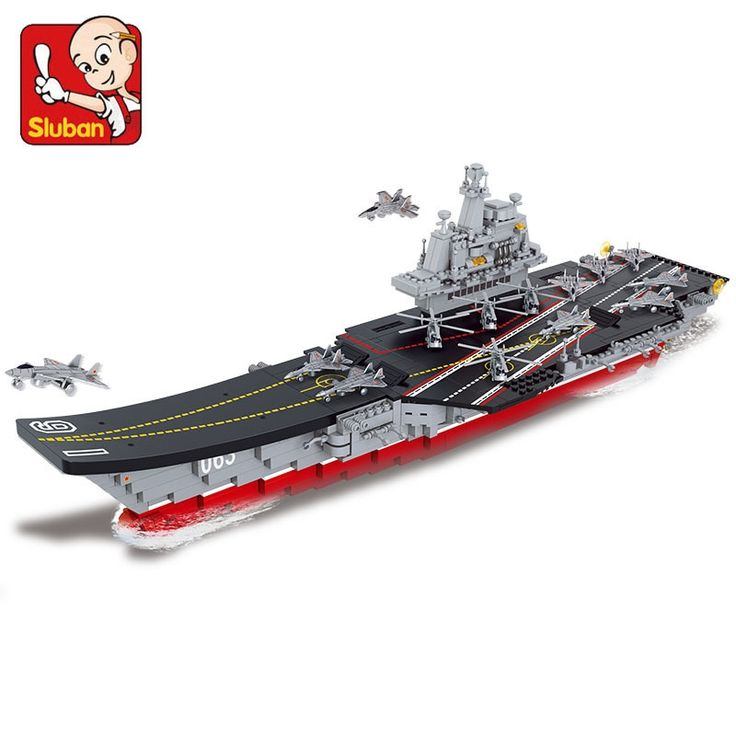 (53.06$)  Watch now  - Model building kits compatible with lego Aircraft Carrier 1:450 3D blocks Educational model building toys hobbies for children