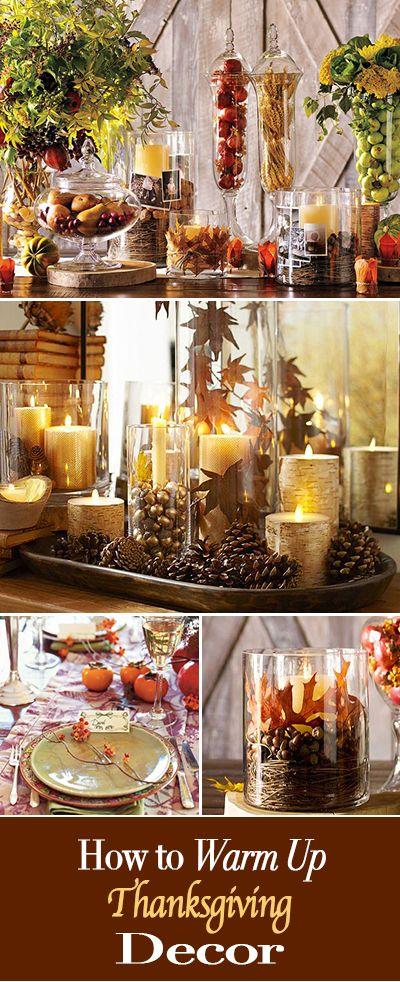How to Warm Up Thanksgiving Decor • Easy ways to warm up your decorating ideas around the Thanksgiving holiday!