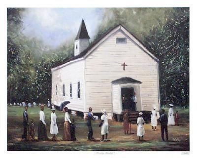 Sunday Worship by Ted Ellis | The Black Art Depot