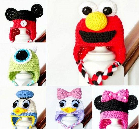 Crochet Character Hats free crochet patterns ¥