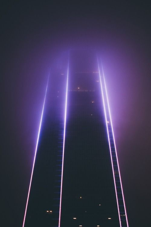 The City at Night | violet neon