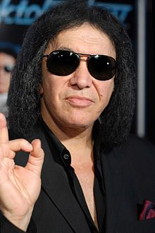 Gene Simmons.  I never thought I'd say this bout read this guy's wikipedia article.  Seriously. Not a big fan of the music but respect for not being afraid to voice his opinions!