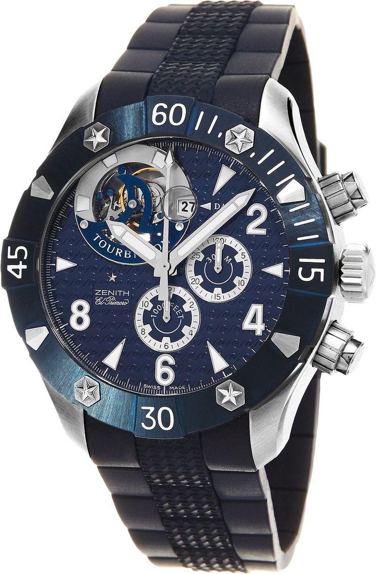 Zenith Defy Classic Sea Tourbillon Men's Automatic Chronograph Swiss Diver's Watch 03.0529.4035/51.R674