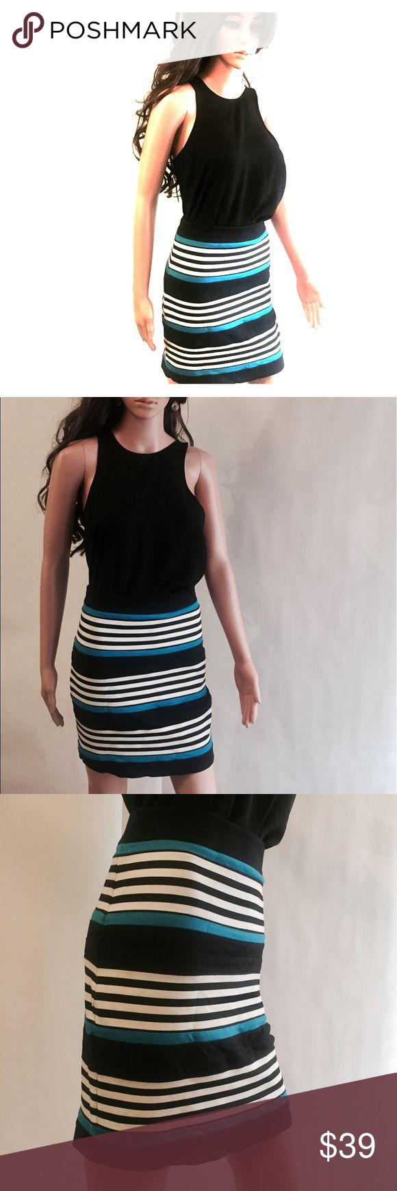 Express Professional Striped Pencil Skirt Express Professional Striped Pencil Skirt. Tiny little stain as pictured.  🌟🌟🌟Enjoy 20% off with 2 or more items from my closet! Express Skirts Pencil