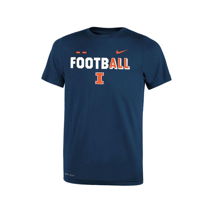 Boys 8-20 Nike Illinois Fighting Illini Legend FootbALL Tee, Size: Xl 18-20, Blue (Navy)