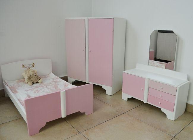 Upcycled mini dolls furniture Amor de abuela color rosa y tamaño mini / Vero Palazzo - Home Deco