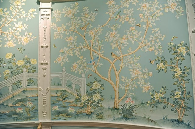 Dorothy Draper decorating with Gracie paper..Stoneleigh ...