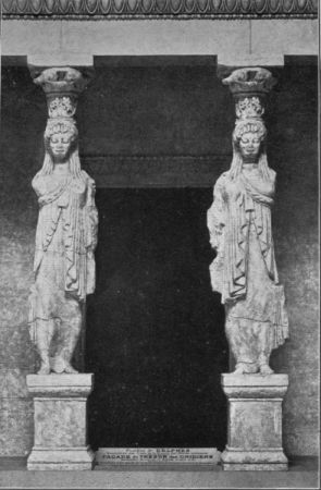 Caryatides from the Treasury of the Cnidians at Delphi