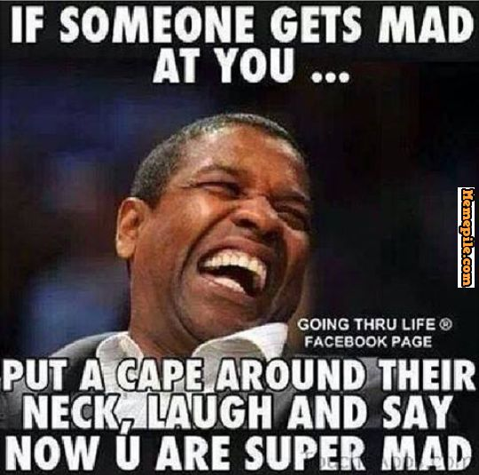 Denzel Washington, put a cape on, why you mad, super mad, Meme ...