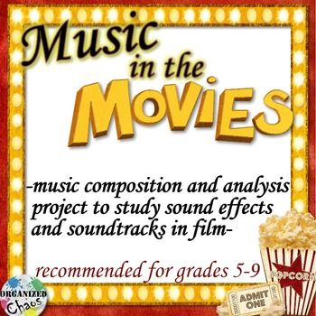 This movie music unit is a great way to engage upper elementary and middle school students and get them composing, listening, analyzing, and thinking about music! Students will learn about the importance of music and sound in film, different music jobs within the film industry (especially focusing on foley artists and score composers), and add their own sound effects and soundtrack to a short film!