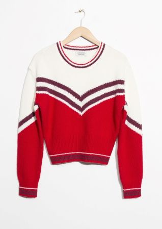 & Other Stories | Stripe Jacquard Sweater