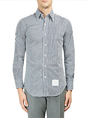 Thom Browne Printed Cotton Button-Down Shirt