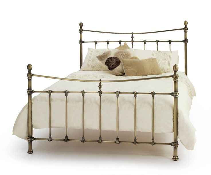 #Estelle georgian quality metal bed #frame in antique #brass double or king size,  View more on the LINK: 	http://www.zeppy.io/product/gb/2/282138371508/