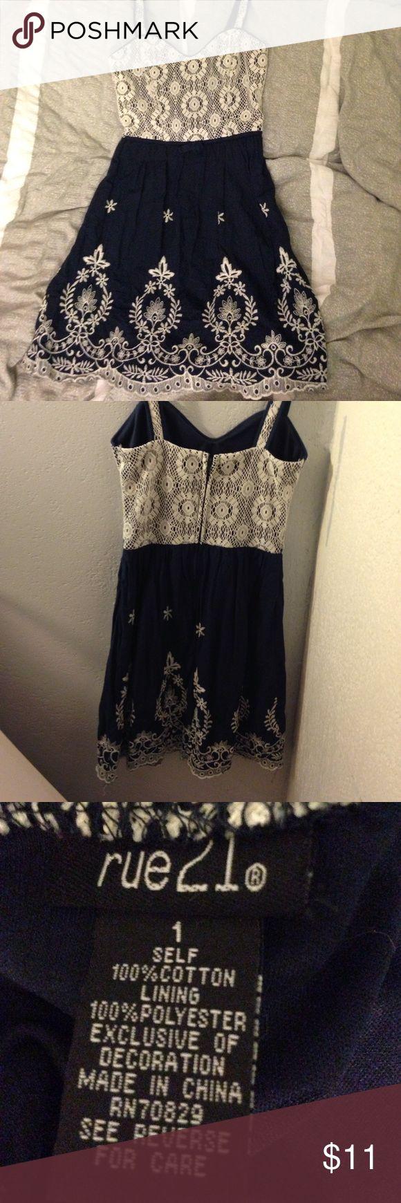 Lace in Front Short Back Long Dress in Black Rue21