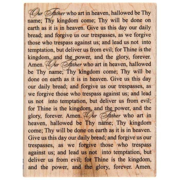 Lord's Prayer 02 Rubber Stamp