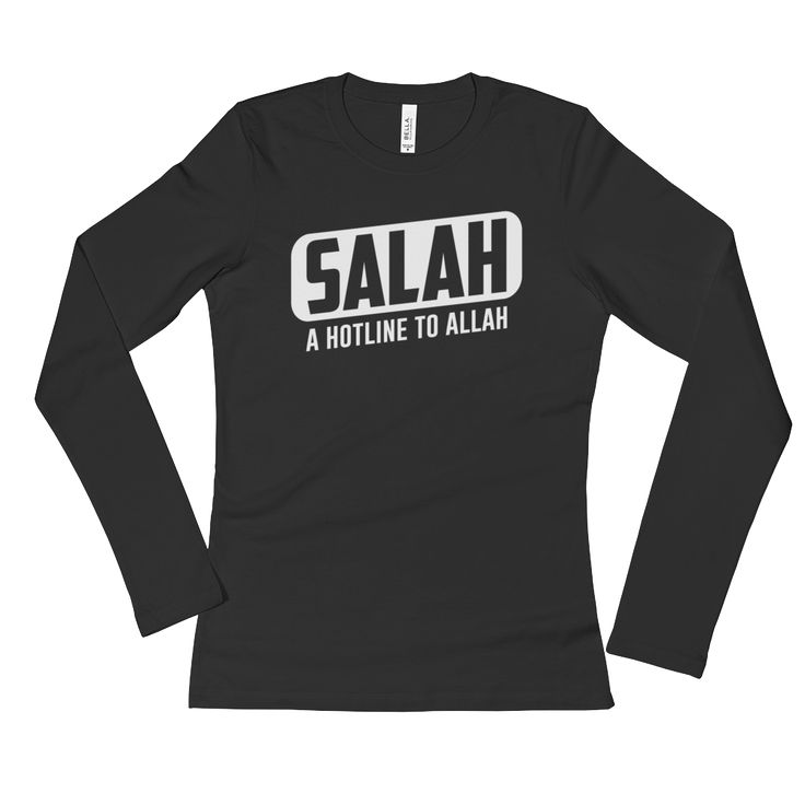 Just added to our store!! Salah - Hotline t...  Check it out here: http://www.zakatees.com/products/salah-hotline-to-allah-ladies-long-sleeve-t-shirt?utm_campaign=social_autopilot&utm_source=pin&utm_medium=pin