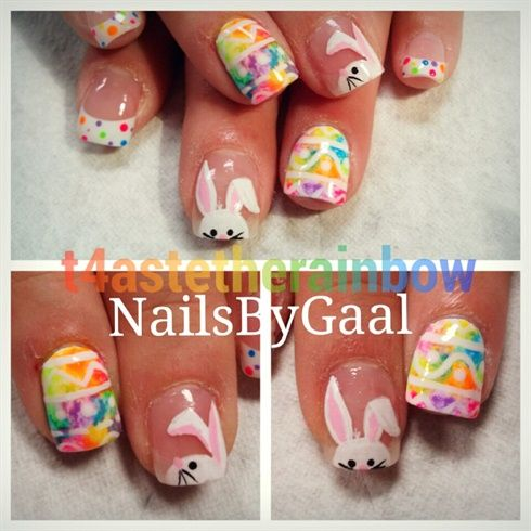 335 best easter nail design images on pinterest easter nail easter nails by t4stetherainbow from nail art gallery prinsesfo Images