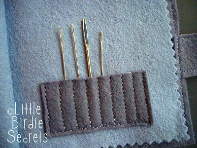 Little Birdie Secrets: how to make a felt needle book
