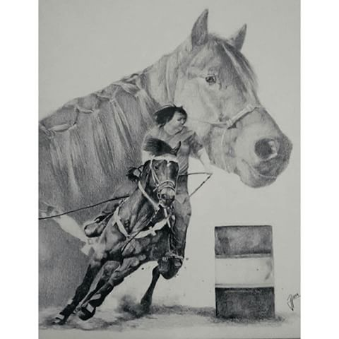 Commission complete!! If you're a fan of horses or barrel racing I would highly suggest following @brbarrelhorses! She's a true inspiration to cowgirls everywhere. Hope you like it :) really enjoyed this one!! #art#artwork#draw#drawing#graphite#pencil#photorealism#horse#barrelracing#barrelracer#barrelhorse#cowgirl#rodeo#artfido#artnerdy#sketch_daily#daily_art#proartists#artofdrawingg#worldofpencils#artcollective#arts_mag#arts_help#art_spotlight#artistmafia