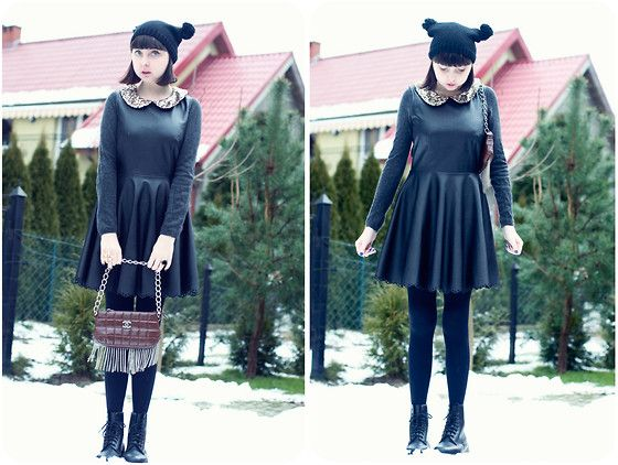 Dress Dahlia, Prada Cashmere, Bag Chanel, Dr Martens Buty, Hat | ♥ Jake Bugg - Spróbuj. (Katie Franka) | LOOKBOOK.nu