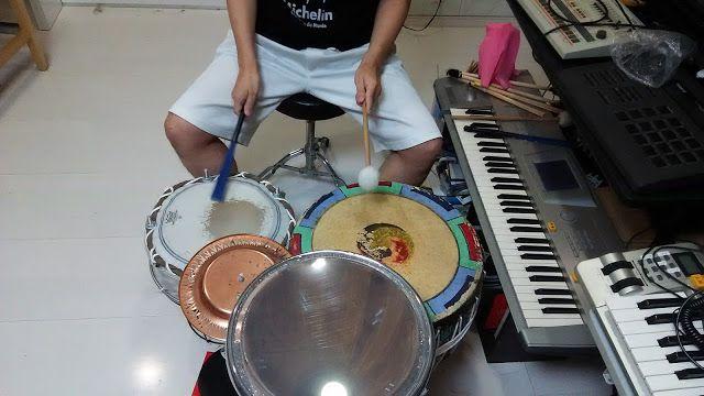 自宅録音研究所|Recording Audio At Home: 録音をする。パーカッションドラムキットとギターとトランペット。