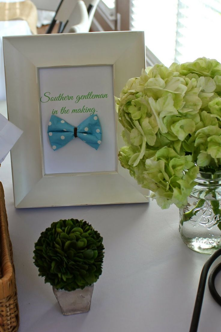 House of Hydrangeas: Southern Gentleman Baby Shower