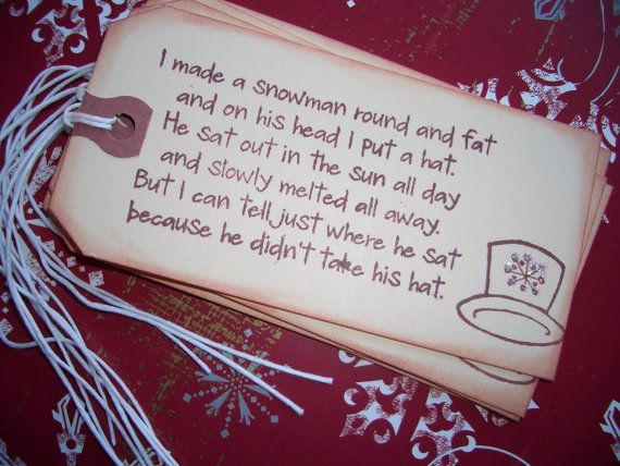 snowman poem with hat - Google Search cute poem maybe put with melted snowman ornament