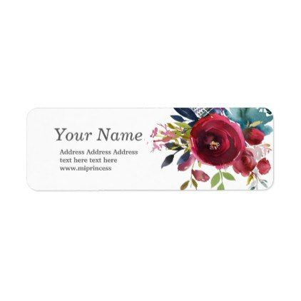 spring flowers floral  return address stickers - labels customize diy cyo personalize