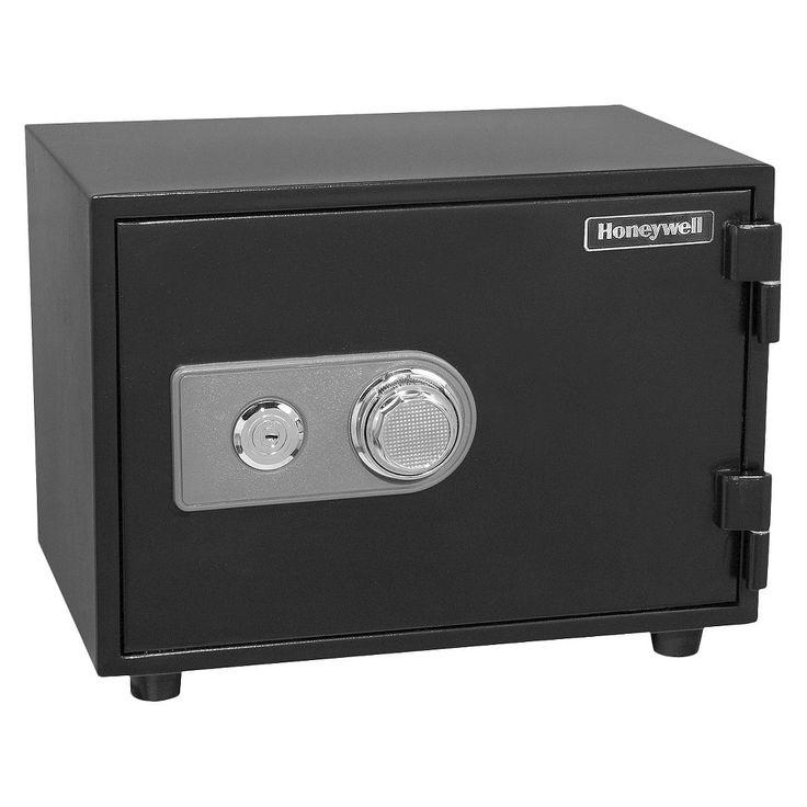 0.61 Cu. Ft. Water Resistant Steel Fire & Security Safe, Black