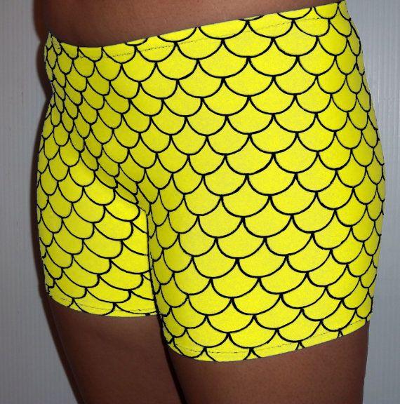 mermaid shorts, running shorts, volleyball shorts, gymnastic shorts, spandex shorts