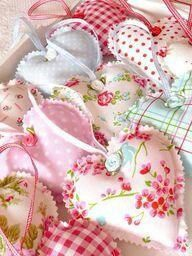 """DIY.. Sweet Shabby Chic Ribbon Hearts Tutorial! For wall or to: """"prettify"""" any other Interior Decor!"""