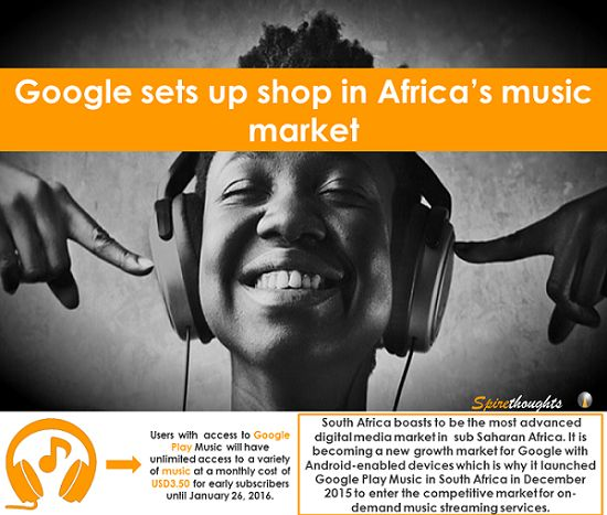 Will Google manage to capture Africa's digital media market despite fierce competition?  #spire#spirethoughts#africa#music market#digital media#android#google play#south afric#apple music