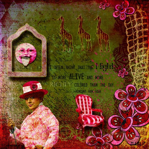The Night created by Marlie with In the Pink by 2 Curly Headed Monsters Designs available @ Mischief Circus. Thanks for looking!