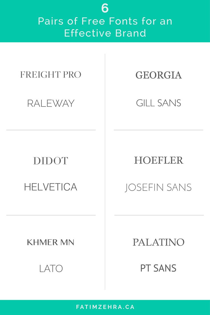 Here Are 6 Pairs of Free Fonts For An Effective Brand