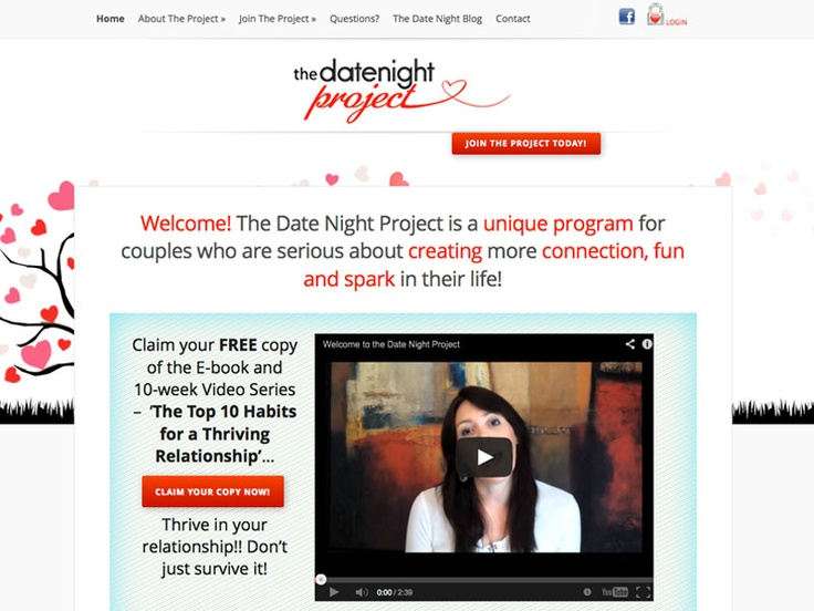Fabulous new product – The Date Night Project - and of course, a gorgeous new #website!  In a nutshell, The Date Night Project is a unique program for couples who are serious about creating more connection, fun and spark in their life! #members