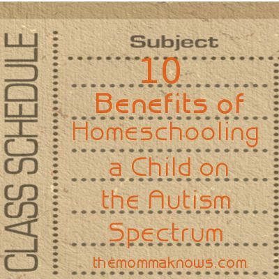 10 Benefits of Homeschooling a Child on the Autism Spectrum