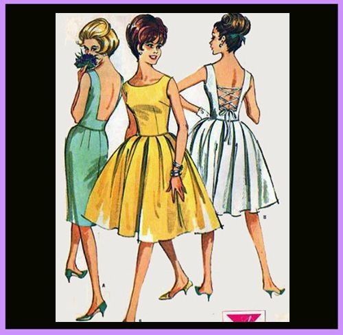 1960s Dress Bombshell or Wiggle Dress Sewing Pattern Bust 34