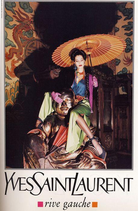 Photo: Helmut Newton for Yves Saint Laurent, Spring 1993. Model: Yasmeen Ghauri. I