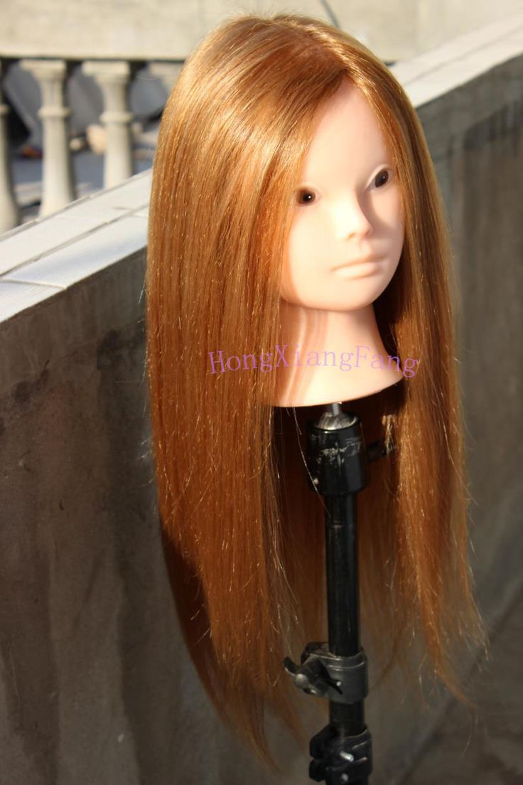 Wholesale Dummy  Professional Hairstyling Training Head 55cm 80% Human Hair Mannequin Head