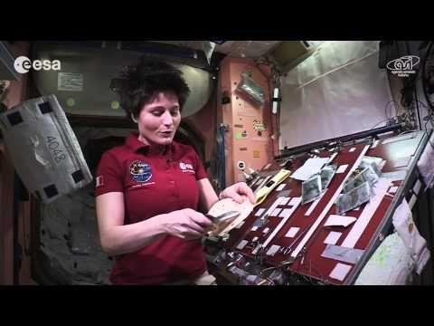 Cooking in space: whole red rice and turmeric chicken - YouTube