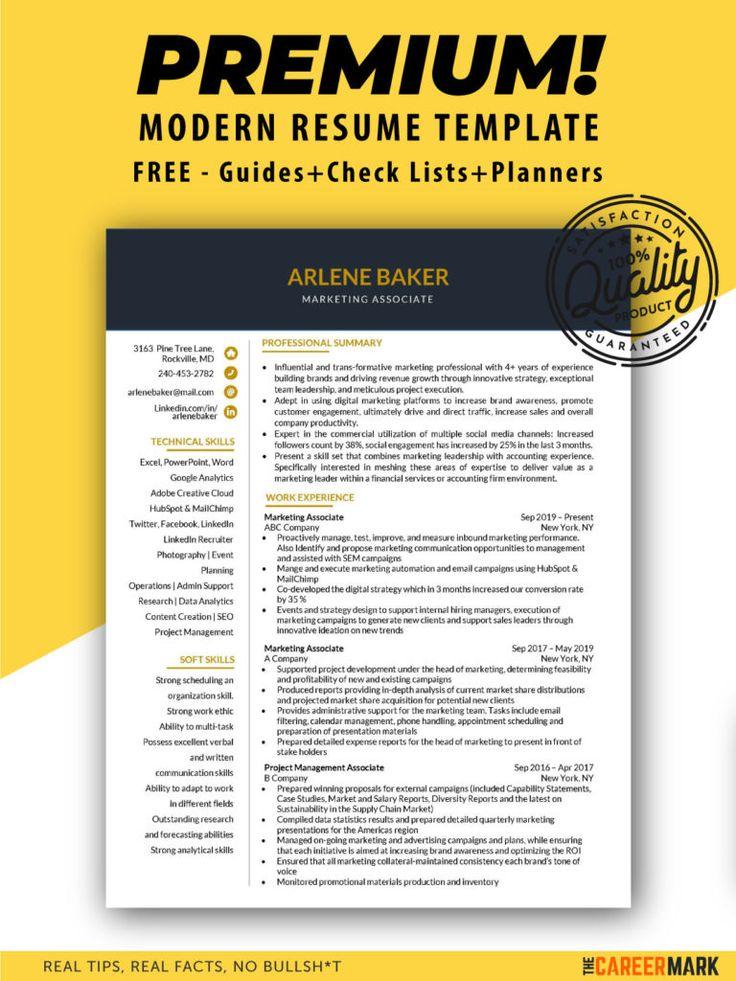 ATS friendly marketing associate resume template The