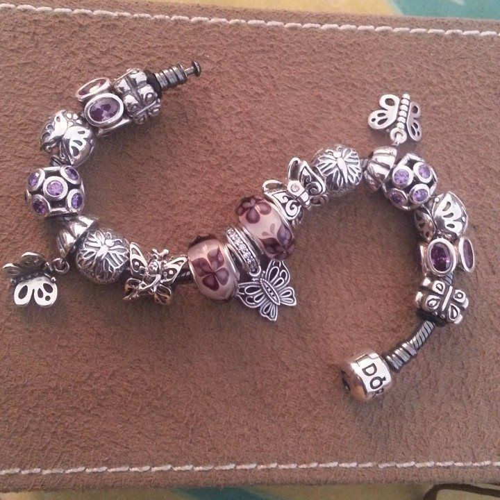 Charms And Bracelets: Pandora Bracelet Purple Violet